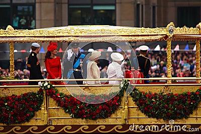 El jubileo de diamante de la reina Foto editorial
