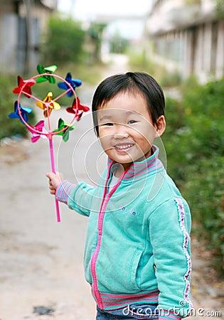 El jugar chino de los niños.