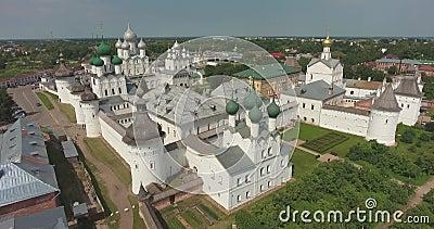 El Kremlin, Rostov, Rusia Aeronáutica almacen de metraje de vídeo