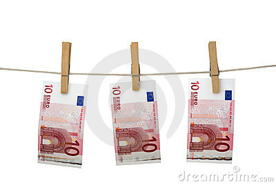 El lavar planchar de dinero