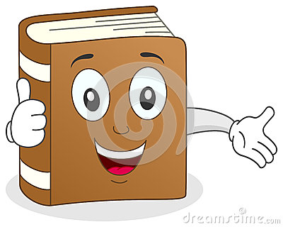 El libro divertido manosea con los dedos encima de carácter