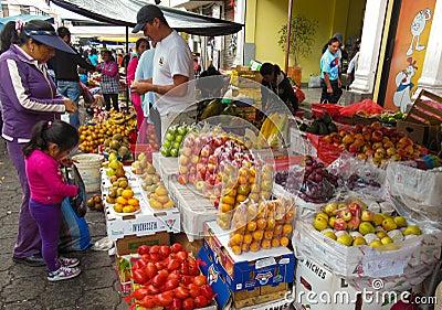 El mercado del granjero Fotografía editorial