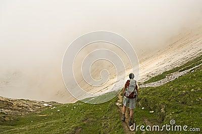 El mirar fijamente en la niebla