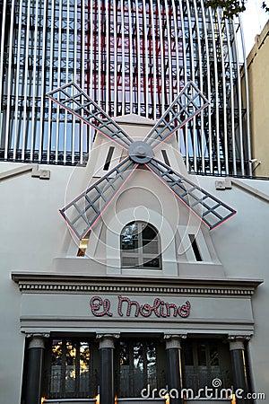 El Molino Music Hall in Barcelona, Spain Editorial Photography