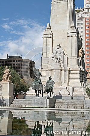 El monumento de Cervantes en Madrid