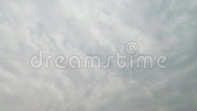 El movimiento del cielo más nublado almacen de video