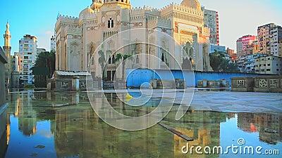 EL Mursi Abu El Abbas Mosque almacen de metraje de vídeo