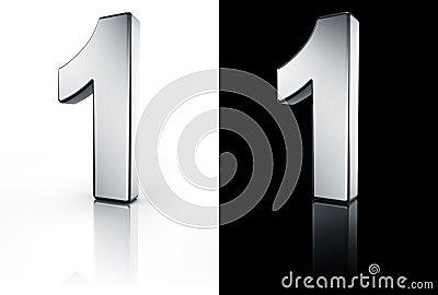 El n mero 1 en el suelo blanco y negro imagenes de archivo for Suelo 3d blanco