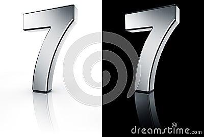 El n mero 7 en el suelo blanco y negro fotos de archivo for Suelo 3d blanco