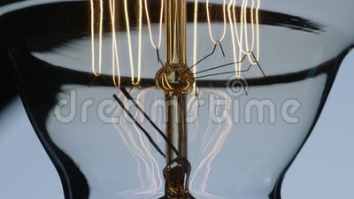 El oscilar Edison Lightbulb Filament And Wiring metrajes