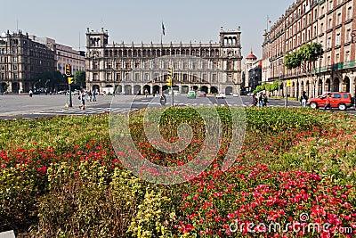El Palacio de Hierro Zocalo Mexico Editorial Image