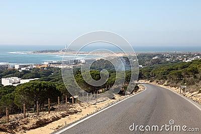El Palmar village and beach. Spain
