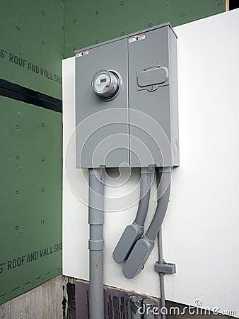 El panel de la energía eléctrica