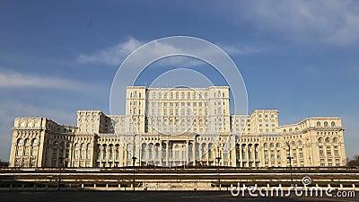 El parlamento rumano (casa Poporului) almacen de video