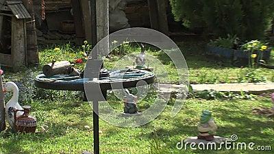 El patio en el jardín del mar de Bourgas en Bulgaria metrajes