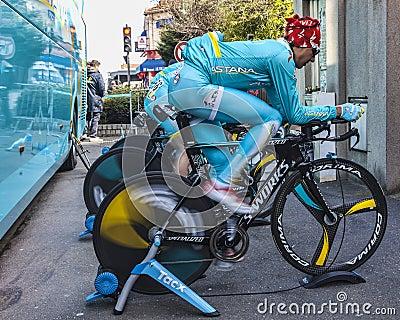 El Pedalling rápido Foto de archivo editorial