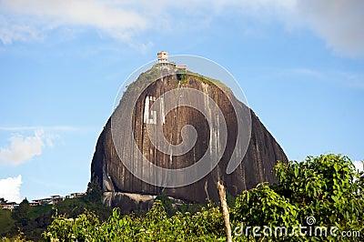 El Peñol rock in Colombia