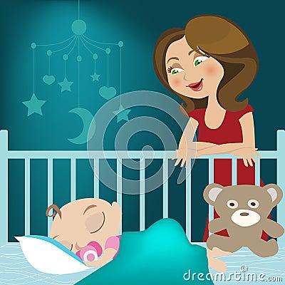 El pequeño dormir del bebé