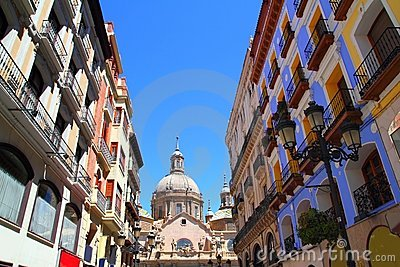 El Pilar Cathedral in Zaragoza city Spain