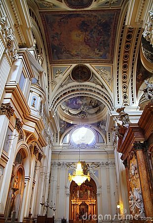 El Pilar Cathedral in Zaragoza city Spain indoor