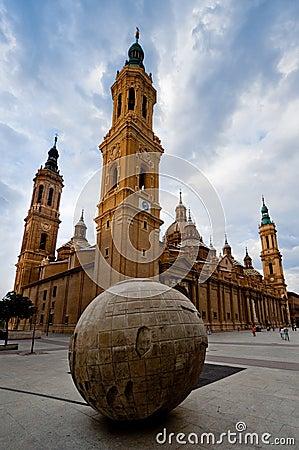 El Pilar cathedral in Zaragoza, Spain