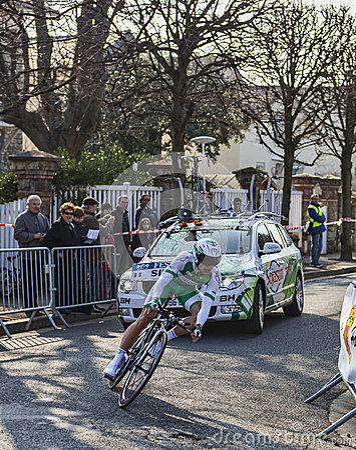 El prólogo 2013 de Simon Julien- París del ciclista Niza Imagen editorial