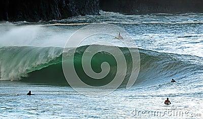 El practicar surf irlandés