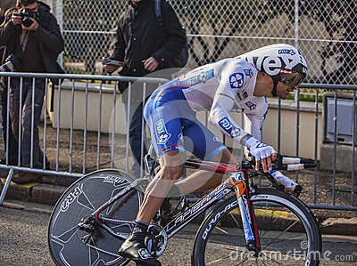 El prólogo 2013 de Soupe Geoffrey París del ciclista Niza Fotografía editorial