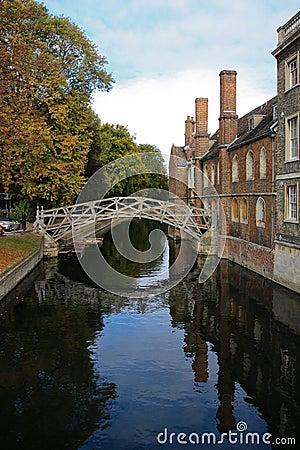 El puente de la matemáticas en Universidad de Cambridge