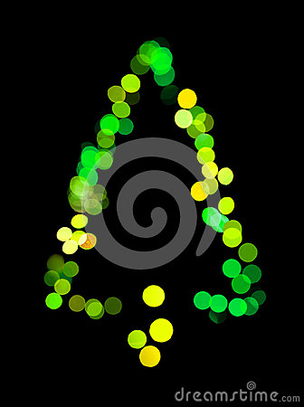 El árbol de navidad hizo luces del bokeh del ââof