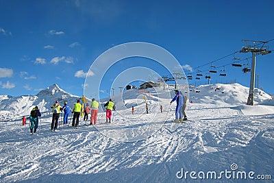 El área del esquí