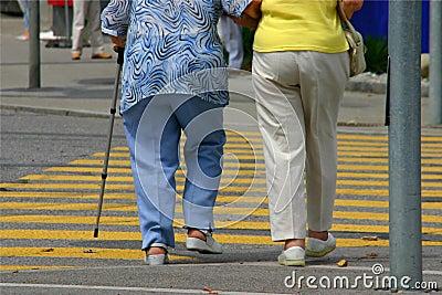 El recorrer de los mayores