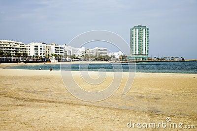 El Reducto beach in Arrecife (Lanzarote)