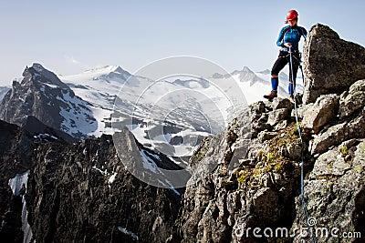 El subir de montaña