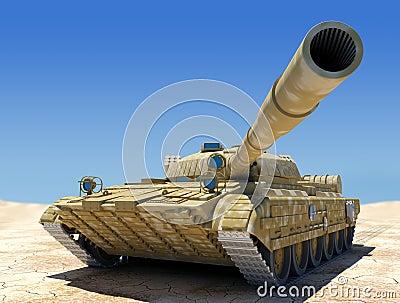 El tanque de ejército.