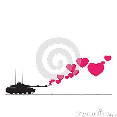 El tanque y corazones.