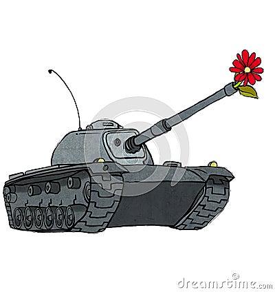 El tanque y flor
