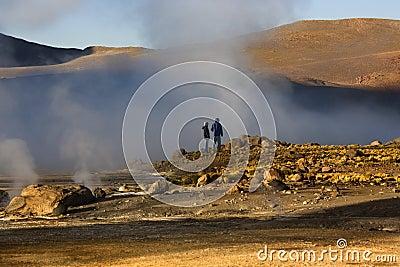 El Tatio Geyser Field - Chile - South America Editorial Stock Photo