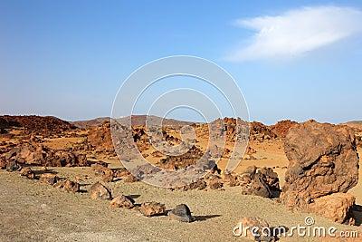 El Teide desert.