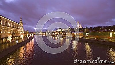 El terraplén del Kremlin, el Kremlin de Moscú metrajes