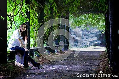 El tiempo libre en bosque