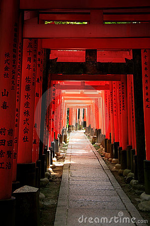 El torii de Inari bloquea - Kyoto - Japón