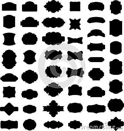 El vector enmarca siluetas
