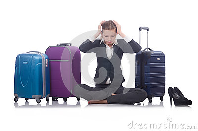 El viajar de la empresaria