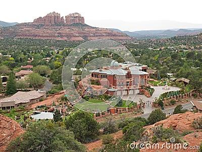 Elaborate mansion in Sedona, Arizona