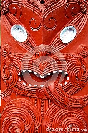 Elaborate Maori carving