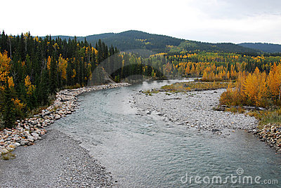 Elbow river valley in autumn