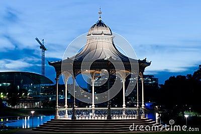 Elder Park Rotunda at night