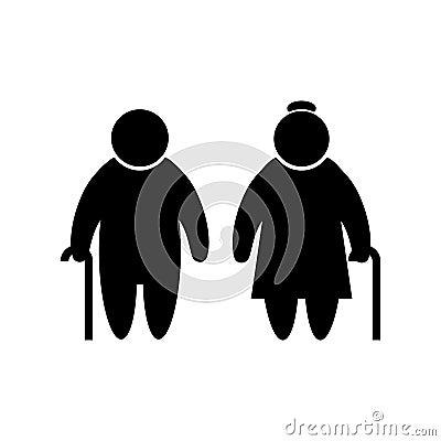 Free Elder People Icon In Flat Style Old Men Simbol Stock Image - 112615291