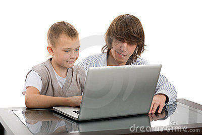 Elder and younger brothers for a laptop